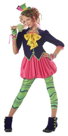 Tween Mad Hatter Halloween Costume - My daughter loved this and it was adorable!!!