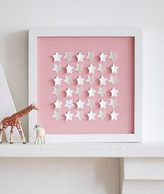 Personalisierte kleine Sternen - groß - Neugeborenen, Taufe Geschenk
