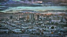 Beautiful photo of downtown Las Vegas at dusk…