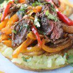 Steak Fajita Loaded Sweet Potatoes |