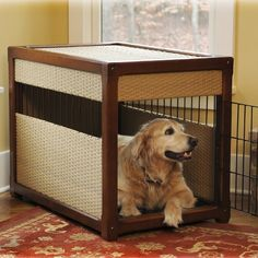 Deluxe Pet Residence Rhino Wicker Dog Crate
