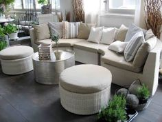Love the furniture for a sun room