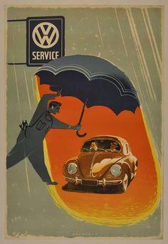 Postal VW. Década de 1950