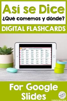 Flashcards are a perfect way to help kids learn Spanish vocabulary! This file opens in Google Slides and is perfect for distance learning, paperless classrooms, or for learning on the go! #distancelearning #elearning #spanishfood #digitalflashcards #spanishflashcards #asisedice Learning Spanish For Kids, Spanish Teaching Resources, Fun Learning, Homeschooling Resources, Spanish Activities, Teacher Resources, Spanish Lesson Plans, Spanish Lessons, Learn Spanish