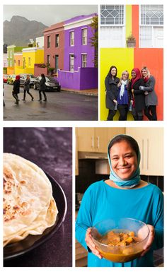 Are you a foodie travelling to Cape Town? Be sure to visit the vibrant and colourful BoKaap known for its wonderful cooking classes, and hot and spicy cuisine! Africa Travel, Cooking Classes, Cape Town, Eating Well, South Africa, Travelling, Spicy, Vibrant, Vacation