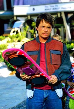 Michael J Fox as Marty McFly in Back to the Future II (1989)
