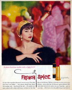 make up - Coty Lipstick Ad 1958