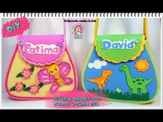 DIY- TUTORIAL BOLSITO DE GOMA EVA O FOAMY SNACKYBAG - COLABORACION ABEDULART - YouTube M Craft, Ideas Para Fiestas, Goodie Bags, Diy, Minions, My Little Pony, Minnie Mouse, Projects To Try, Lunch Box