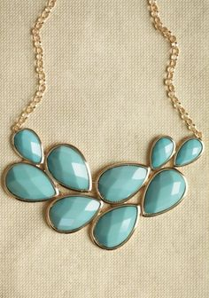 Lady In Blue Teardrop Necklace. Lots of cute cheap jewelry on this site.
