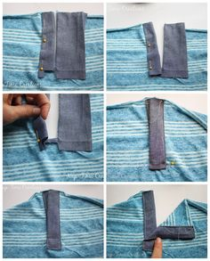 Henley Shirt Placket Tutorial - and free shirt patterns - Nap-time Creations