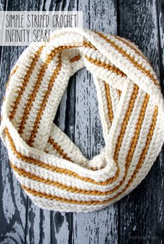 Simple Striped Crochet Scarf