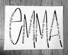 handlettered *c u s t o m* wood signs + event decor by lylettering Emma Calligraphy Doodles, Calligraphy Handwriting, Calligraphy Letters, Penmanship, Islamic Calligraphy, Creative Lettering, Brush Lettering, Lettering Ideas, Doodle Lettering
