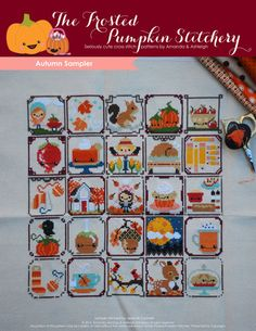 Autumn Sampler PDF Cross Stitch Pattern