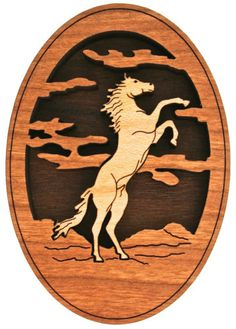 Western Decor New! Wood Magnet Wild Horse art