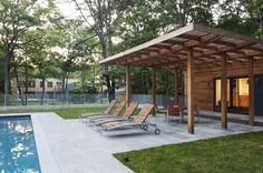 pergola-roof-ideas-Patio-Modern-with-awning-cedar-concrete-deck