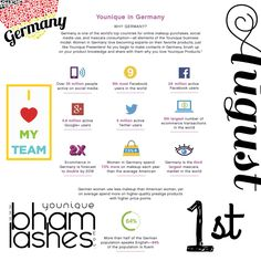 Younique & Germany are a great fit. Launching August 1st https://www.youniqueproducts.com/bhamlashes bhamlashes@gmail.com #racetostart #germany #bhamlashes #getpaid.de #Erstaunliche #racetostart #Stellenangebot #Karriere #Auftrag