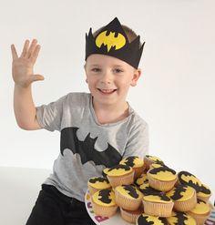 #cupcakes #batman #superheldenfeestje #birthdayparty #verjaardagskroon #superhero