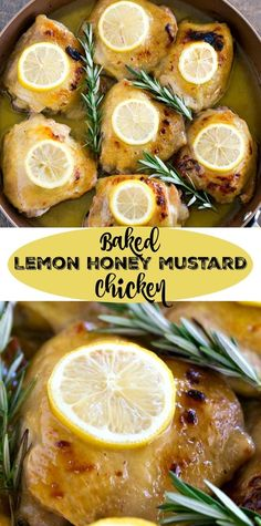 It takes just 6 ingredients and 5 minutes of hands-on prep to make this Baked Lemon Honey Mustard Chicken! Gluten Free, Paleo