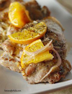 Orange Glazed Pork Chops Recipe - RecipeChart.com