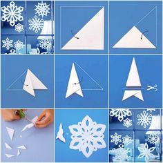 Wow, de eerste sneeuw van deze winter is gevallen!… Wow, the first snow of this winter has fallen! Diy Crafts To Do, New Crafts, Crafts For Teens, Paper Crafts, Craft Paper Design, Snow Flakes Diy, Paper Snowflakes, Preschool Crafts, Kirigami