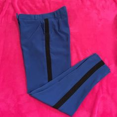Size 1 Xhiliration Dress Pants Blue with classy tuxedo strip. Size 1  never worn! ✔️⚫️ polyester material Xhilaration Pants Straight Leg