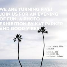 Mark it in your diary! Next Friday April 29th we'll just be kicking off our Birthday Bash; cracking open the vino and putting the finishing touches on our cheese platters. Join us at our jungle studio from 6pm for our 5th birthday celebration complete with a stellar photography exhibition by @katrinaparker