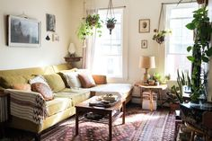 New apartment cozy living room house tours ideas Boho Living Room, Cozy Living Rooms, Apartment Living, Home And Living, Living Room Decor, Living Spaces, Apartment Therapy, Apartment Plants, Cool Apartments