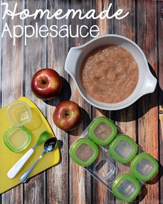 Homemade Applesauce - easy to make and great for baby food too!