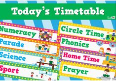 Visual Timetable - Classroom Kids Stick People