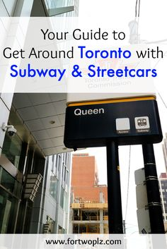 Taking public transport in Toronto couldn't be easier. Check out this complete guide on how to take Toronto TTC (Subway & Streetcar) like the local! Toronto Vacation, Toronto Travel, Moving To Toronto, Toronto Life, Ontario, Toronto Subway, Walkable City, Visit Canada, Canada Eh