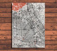 SANTA CLARA CA Vitage map Ca California Santa Clara City map