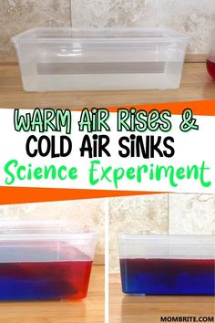 Warm Air Rises And Cold Air Sinks Science Experiment