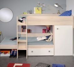 Modular Bunk Bed for Kids L Shaped or parallel with Storage USB port