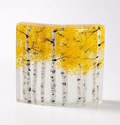 Autumn Glow by Amanda Taylor and Lance Taylor: Art Glass Sculpture available at www.artfulhome.com