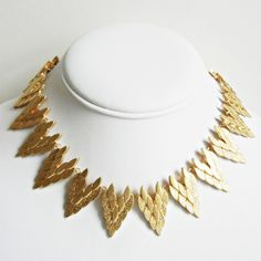 Triangle Collar Necklace Gold now featured on Fab.