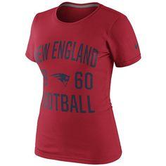 Ladies Nike Gridiron Tee-Red - basic