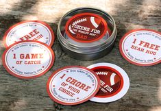 Fathers Day Beer + Free Printables from My Own Ideas blog #football #beer #coasters #labels #printables