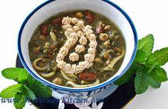 Persian Food!! Asheh Reshteh (Persian Noodle Soup) - Crockpot  Recipes