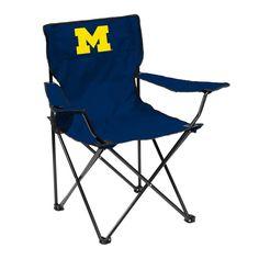Michigan Wolverines Quad Chair - Logo Chair