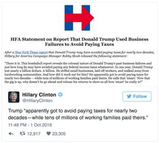 Over the weekend the New York Times broke the story about Trump taking over $900 million in business losses in the mid-90s and may have used the IRS loss carryover rule to avoid paying taxes in subsequent years, possibly 20 years. The practice is completely legal, but that didn't stop Hillary's attacks. However, it turns […]
