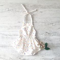 ZOE ROMPER White Summer romper Summer Outfit by MissLylaBoutique