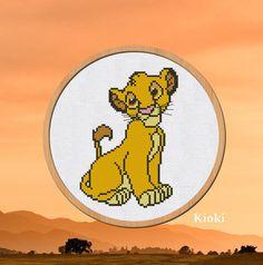 Cross stitch pattern Simba Lion King Disney Cartoon PDF Counted Scheme Chart