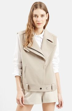 Topshop+Belted+Biker+Vest+available+at+#Nordstrom