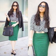 skirt blouse combo office - Google Search