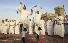 The sword dance is a grand Arabian tradition