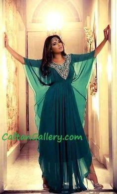 Dubai dress green