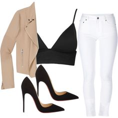 A fashion look from November 2014 featuring Wilfred jackets, Yves Saint Laurent jeans and Witchery bikinis. Browse and shop related looks.