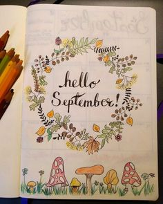 hello september bullet journal