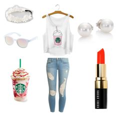 """""""Summer Day at Starbucks"""" by justanoth3rgirl ❤ liked on Polyvore"""