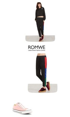 """ROMWE"" by dolce-gabana7 ❤ liked on Polyvore featuring Converse"